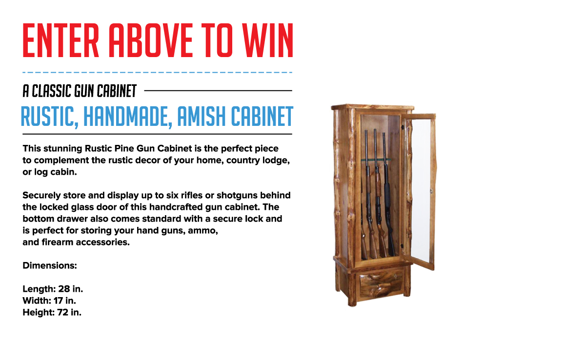 Enter now to win your own handmade rustic gun cabinet for Enter now to win